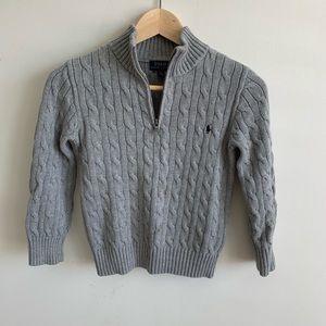 Grey Ralph Lauren boys zip-up sweater